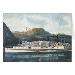 El ` St. John del barco de vapor del río Hudson Tarjeta