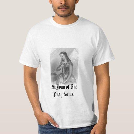 ¡El St Juana de Arco ruega para nosotros! Playera