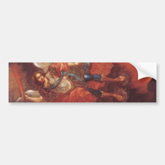 El St. Mikhail del arcángel de Vladimir Borovikovs Etiqueta De Parachoque