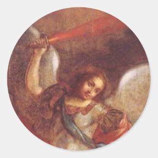 El St. Mikhail del arcángel de Vladimir Pegatina Redonda