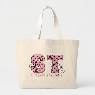el st pone letras a lunares rosados y negros bolsa