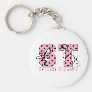 el st pone letras a lunares rosados y negros llavero personalizado