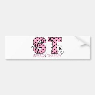 el st pone letras a lunares rosados y negros pegatina para auto