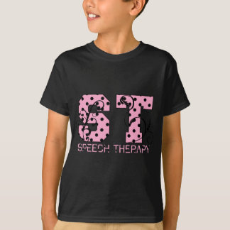el st pone letras a lunares rosados y negros remeras
