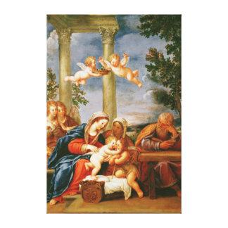 El St. santo Elizabeth y St. John de la familia Impresiones En Lienzo Estiradas