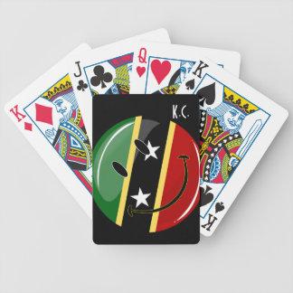 El St. sonriente San Cristobal y Nevis señala por Baraja Cartas De Poker