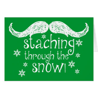 el staching a través de la nieve tarjeta pequeña