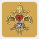 El Statehood de Luisiana bicentenaria Calcomanías Cuadradass Personalizadas