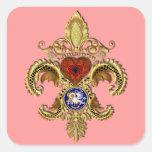 El Statehood de Luisiana bicentenaria Colcomanias Cuadradas Personalizadas