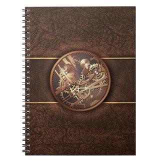 el steampunk adapta marrón del oro libro de apuntes