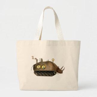 El ~ Steampunk del tanque del rinoceronte Bolsa Tela Grande