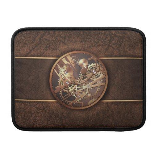 el steampunk elegante adapta marrón del oro fundas MacBook