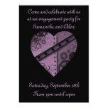 El steampunk púrpura adapta al fiesta de invitación 12,7 x 17,8 cm