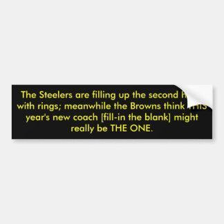 El Steelers está llenando encima del ingenio de la Pegatina Para Auto