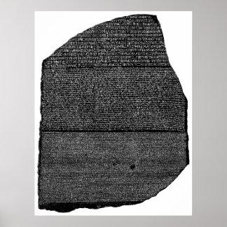El Stele egipcio de la granodiorita de la piedra d Póster