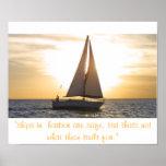 """el streight de la puesta del sol del velero, las """" impresiones"""