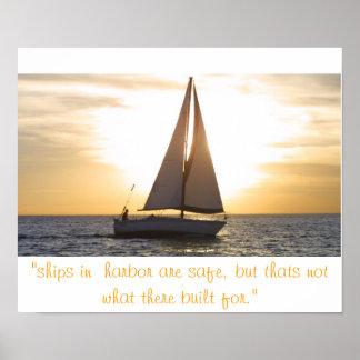 """el streight de la puesta del sol del velero, las """" póster"""