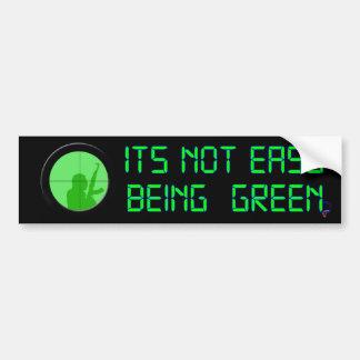 El su ser no fácil verde (indicador digital) pegatina de parachoque
