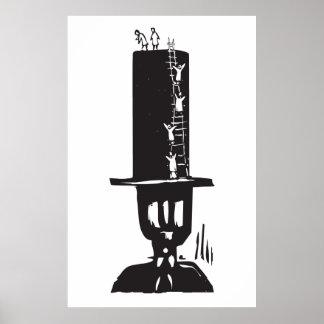 El subir al sombrero de copa posters