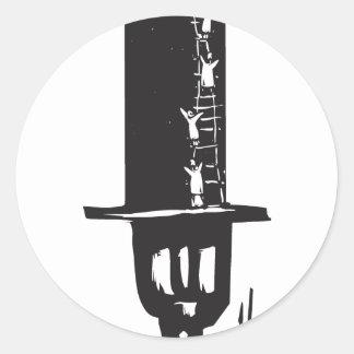 El subir al sombrero de copa pegatina