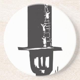 El subir al sombrero de copa posavasos para bebidas