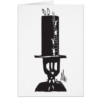El subir al sombrero de copa felicitacion