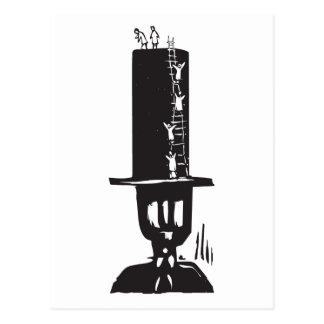 El subir al sombrero de copa tarjeta postal
