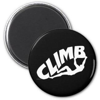 El subir de Bouldering de la roca Imán De Nevera