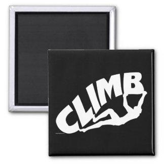 El subir de Bouldering de la roca Iman De Frigorífico