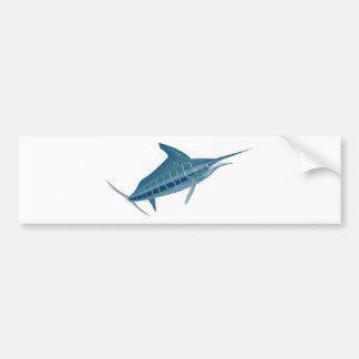 el subir del pez volador aislado en blanco pegatina de parachoque