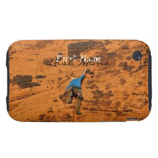 El subir en rocas rojas; Personalizable Carcasa Resistente Para iPhone