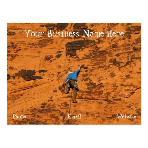 El subir en rocas rojas; Promocional Postales