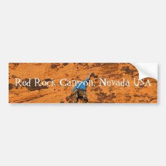 El subir en rocas rojas; Recuerdo de Nevada Etiqueta De Parachoque