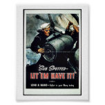 ¡El submarino manchado los dejó tenerlo! Poster