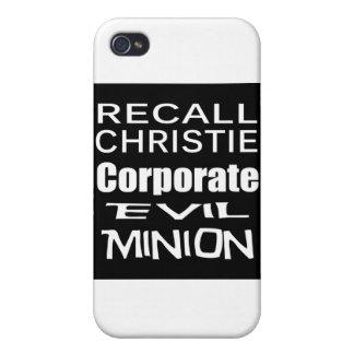 El subordinado del aceite de Chris Christie Koch d iPhone 4 Carcasa