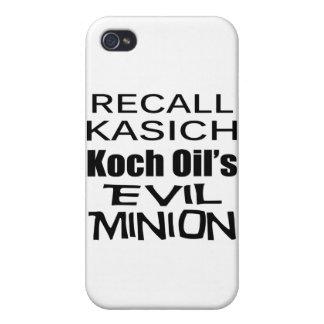 El subordinado del aceite de Juan Kasich Koch del iPhone 4 Cobertura