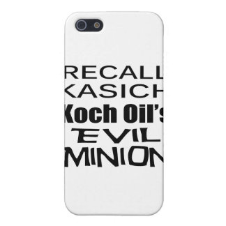 El subordinado del aceite de Juan Kasich Koch del iPhone 5 Cobertura