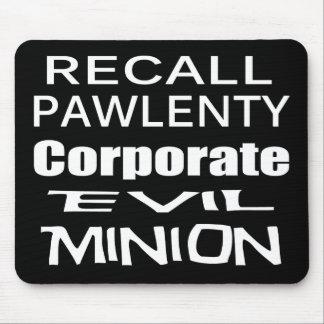 El subordinado malvado del aceite de Pawlenty Koch Tapete De Ratón