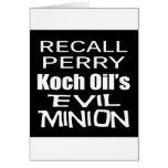 El subordinado malvado del aceite de Rick Perry Ko Tarjeton