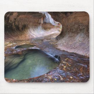 El subterráneo a lo largo de la bifurcación izquie tapete de raton