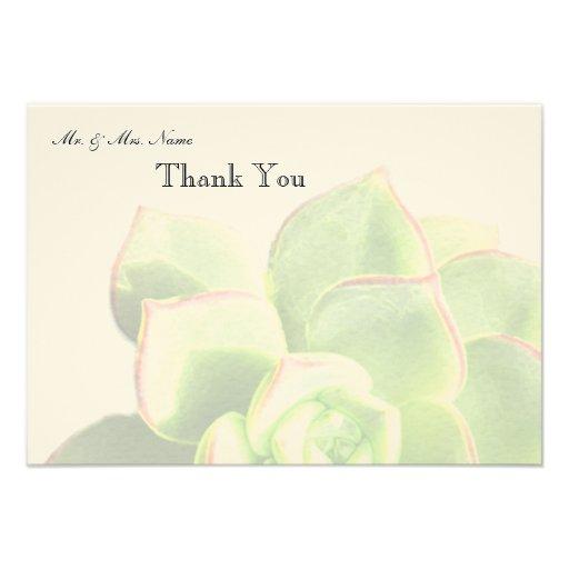 El Succulent verde translúcido le agradece Anuncio