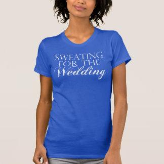 El sudar azul y blanco para el boda. Camiseta