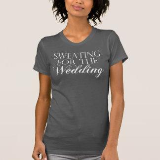 El sudar gris y blanco para el boda. Camiseta