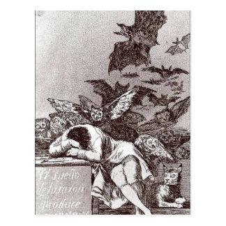 El sue?o de la raz?n (Le songe de la raison) Goya  Postcard