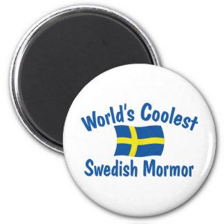 El sueco más fresco Mormor Imán Redondo 5 Cm