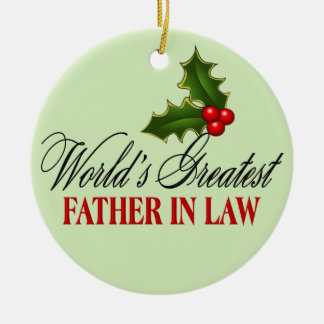 El suegro más grande del mundo ornamento para arbol de navidad