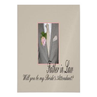 El suegro sea por favor el asistente de la novia invitaciones magnéticas