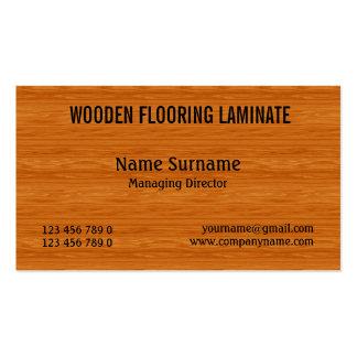 El suelo de madera duro de madera PERSONALIZA Tarjeta De Visita