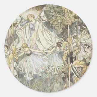 El sueño 1907 de la noche de verano de hadas pegatina redonda