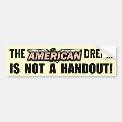 El sueño americano pegatina de parachoque